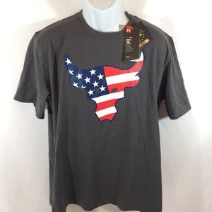 Under Armour X Project Rock Freedom Bull UA Shirt